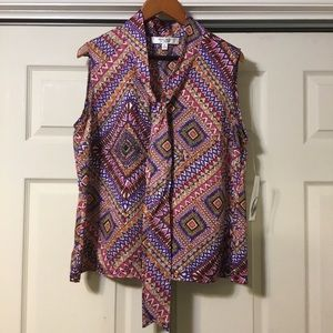 Nine West Suit Separates Sleeveless Blouse NWT
